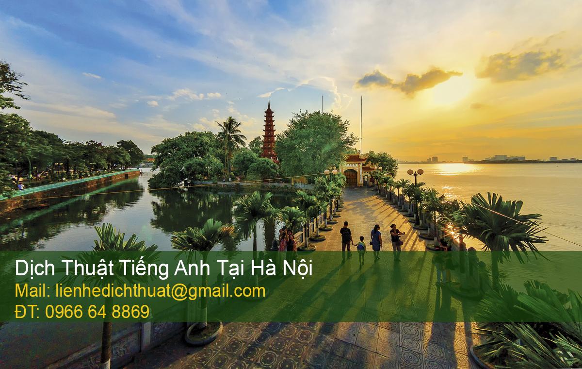 Dịch thuật tiếng Anh tại Hà Nội