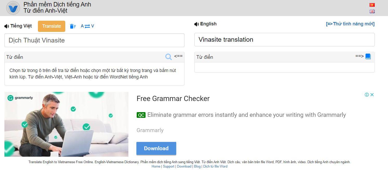 Phần mềm dịch thuật online VIKI Translator