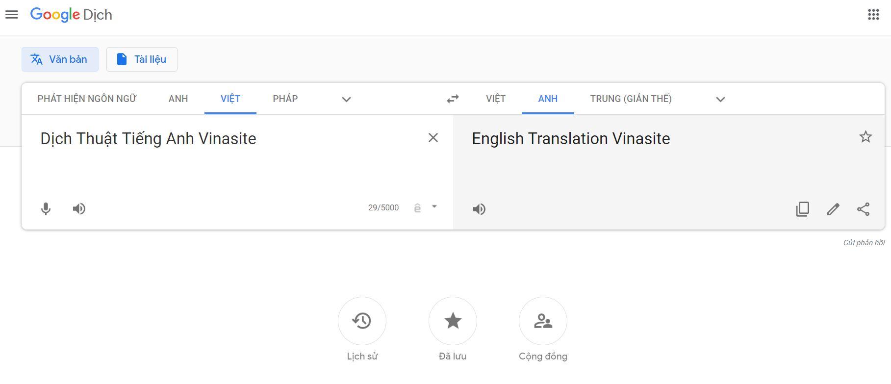 Phần mềm dịch thuật online Google Translate